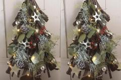 Kerstboom-plakken